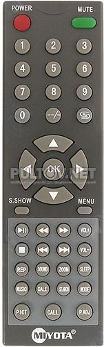 M-TV-811C RU пульт для портативного телевизора Miyota