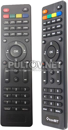 MovieHD C Plus, MovieHD S2 Plus, MovieHD T2 Plus пульт для медиакомбайнов Iconbit