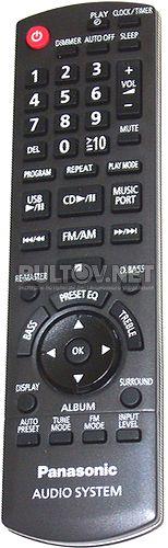 N2QAYB000555 пульт для музыкального центра PANASONIC SC-PM02EP-S