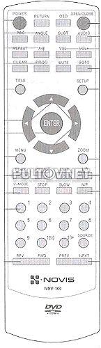 NOVIS NDV-100 пульт для DVD-плеера