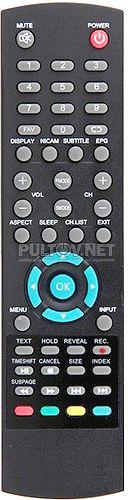 STV-LC19T880WL неоригинальный пульт для телевизора Supra