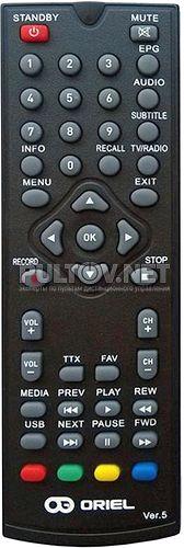Ver.5 пульт для DVB-T2-ресивера ORIEL 301