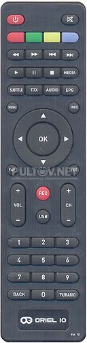 Ver.10 пульт для DVB-T2-ресивера ORIEL 963