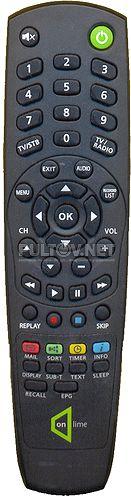 """пульт для HD-ресивера OnLime """"станция"""" (вар 2)"""