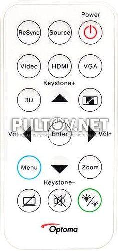 S315 пульт для проектора Optoma