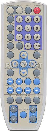 RC-6118, Odeon RC-6118  пульт для телевизора с DVD PDP-7T