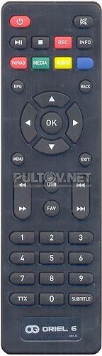 ПДУ-6 Ver.6 пульт для DVB-T2-ресивера ORIEL 312