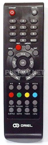 Ver.7 ПДУ-7 пульт для DVB-T2-ресивера ORIEL 710 /720/ 740/ 750 / 821/ 825/ 840 /870 /910 /920/ 950