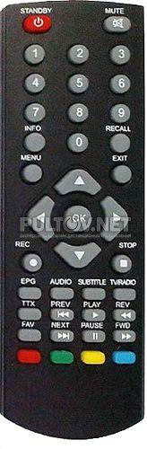 ПДУ-9 пульт для DVB-T2-ресивера ORIEL 790 /960
