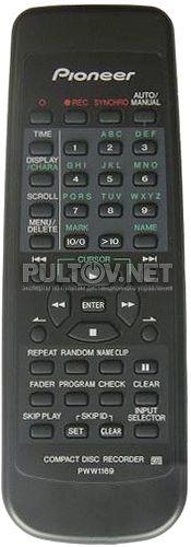 PWW1169 пульт для PIONEER CD-рекордера PDR-609