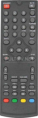 PF-168-1 пульт для DVB-T2-ресивера (вариант 3)