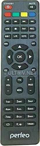 Perfeo PF-168-1 пульт для DVB-T2-ресивера