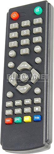 PF-T2-1 пульт для DVB-T2-ресивера Perfeo