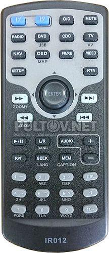 IR012 пульт для автомагнитолы TOYOTA Phantom DVM-3019