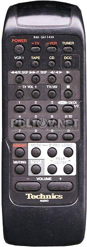 RAK-SA112MH, RAK-SA113MH, RAK-SA114XH пульт для музыкального центра Technics SA-GX370