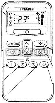 Hitachi rar-2p2 пульт для кондиционера инструкция.