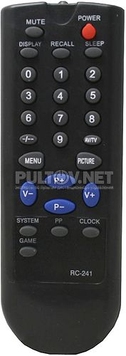 RC-241 пульт для телевизора JINLIPU CD-2116 и других