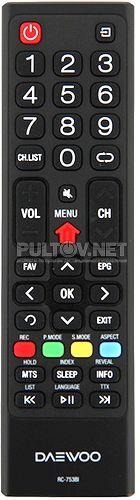RC-753BI пульт для телевизора Daewoo L32V680VKE