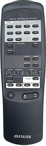 RC-C550 пульт для CD-проигрывателя AIWA XC-550