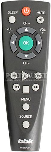 RC-LEM2012 пульт-малыш для телевизора BBK 32LEM-3081/T2C и других