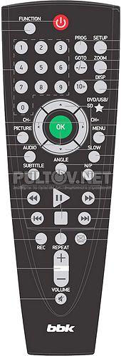 RC-PL1041 пульт для портативного DVD-плеера BBK PL1041T и др.