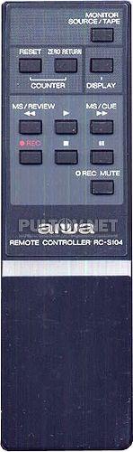 RC-S104 пульт для кассетного стерео магнитофона Aiwa AD-F810