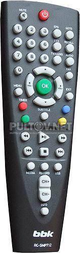 BBK RC-SMP712 пульт для DVB-T2-ресивера BBK SMP125HDT2