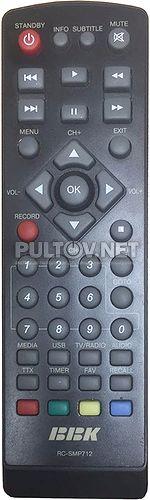 RC-SMP712 пульт для DVB-T2-ресивера BBK SMP712HDT2 (вариант 2)