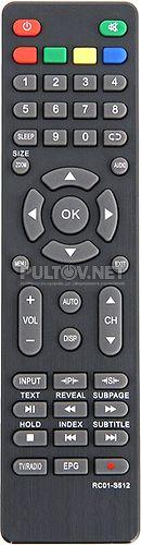 RC01-S512, Akai RC01-S512 неоригинальный пульт для телевизора Akai и Supra