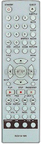 RC019-19R пульт для домашнего кинотеатра BBK