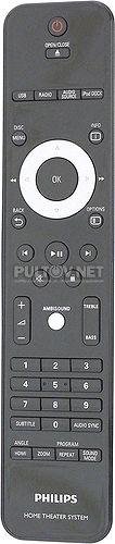 RC2224104/01, 3139 228 56511 пульт для домашнего кинотеатра Philips HTS8141/12