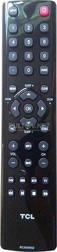 RC3000N02 пульт для телевизора TCL LE32HDE5310 и др.