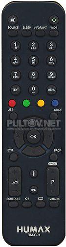 RM-G01 пульт для ресивера Humax VA-4SD (используется для НТВ+ ЛАЙТ ! )