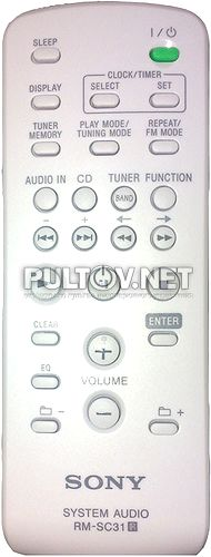 RM-SC31 пульт для музыкального центра SONY CMT-EH15