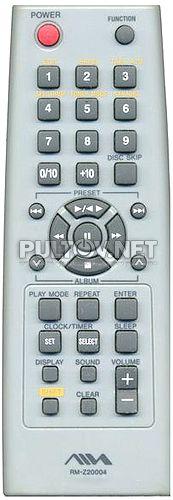 RM-Z20004 пульт для музыкального центра AIWA JAX-PK1 (CX-JN1)