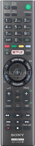 RMT-TX100D пульт для телевизора Sony KDL-43W755C и др.
