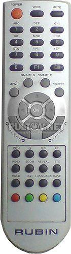 RUBIN RB-23K101F, KREOLZ LT-221W пульт для телевизора RUBIN и KREOLZ