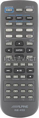 RUE-4159 пульт для автомобильного телевизора Alpine PKG-2000P и др.