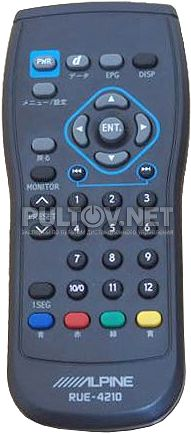 RUE-4210 пульт для TV-тюнера ALPINE TUE-T310