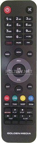 S-Box 9055 HD PVR пульт для цифрового спутникового ресивера Golden Media