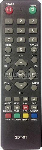 SDT-91 пульт для DVB-T2-ресивера Supra
