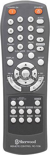 RC-106 пульт для AV-ресивера Sherwood RD-6502