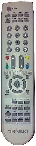 SHIVAKI LCD 2010 , LCD 1910 пульт для телевизора со встроенным DVD (вариант 1) - Пульты ДУ! Интернет-магазин ПДУ! Большой выбор! Бесплатная доставка!