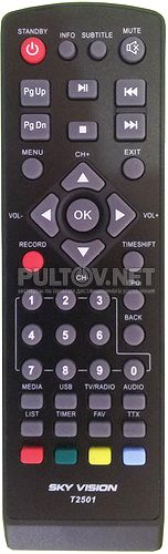 Sky Vision T2501 пульт для DVB-T2-приставки