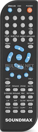 SOUNDMAX SM-DVD5113, SM-DVD5115, HYUNDAI H-DVD5029 пульт для DVD-плеера SOUNDMAX, LOEFFEN