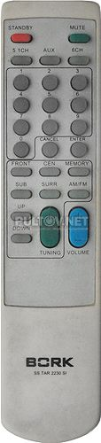 SS TAR 2230 SI пульт для домашнего кинотеатра BORK (вариант пульта № 2)