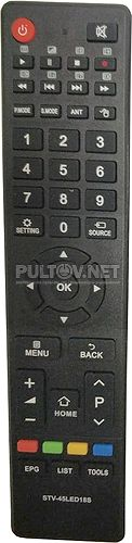 STV-45LED18S неоригинальный пульт для телевизора Shivaki