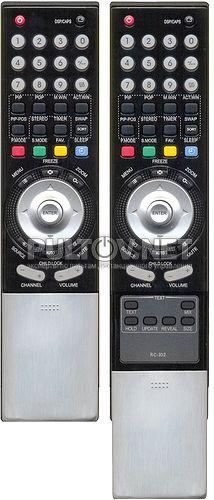 RC-102-OK , RC-I02-0K, PRIMA 27 , HYUNDAI RC-102-0A, RC-IJ2-0A пульт для телевизора XORO и других