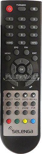 SELENGA T90 пульт для DVB-T2-ресивера