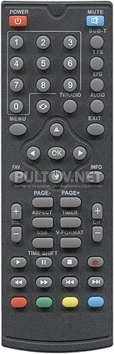 T50 пульт для DVB-T2-ресивера Selenga
